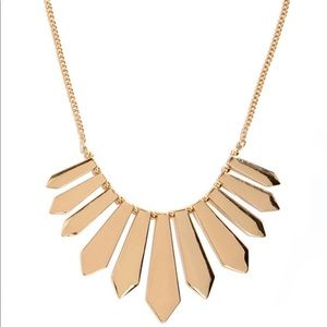 BEBE GOLD  STATEMENT CHOKER NECKLACE NEW
